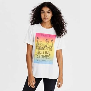 AE Rolling Stones Graphic Band Tee Ombré Concert